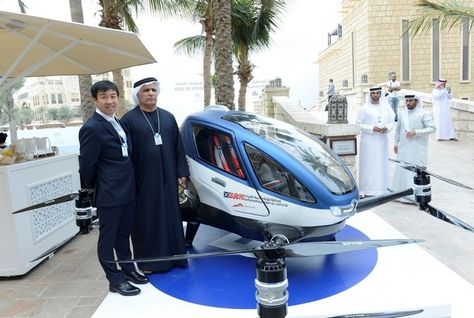 Dubai Eyes Launch of World's First Driverless Flying Cars