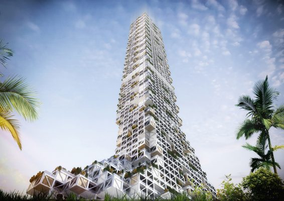 Modular Skyscraper in Dubai by rgg Architects Challenges Dense Vertical Urbanism