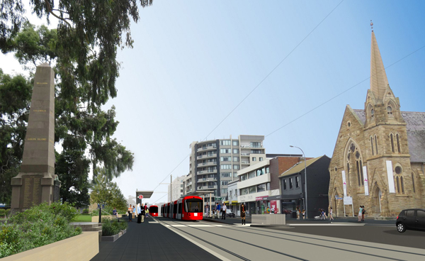 Light rail, population growth and community infrastructure