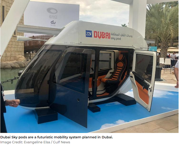'Sky Pod' vehicles to help shape the future of transportation in Dubai
