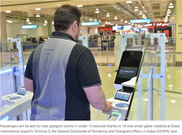 New smart gates at Dubai International's T2 to cut passport control to 10 seconds