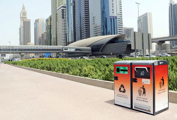 Dubai Municipality Places 100 Smart Waste Containers on Sheikh Zayed Road